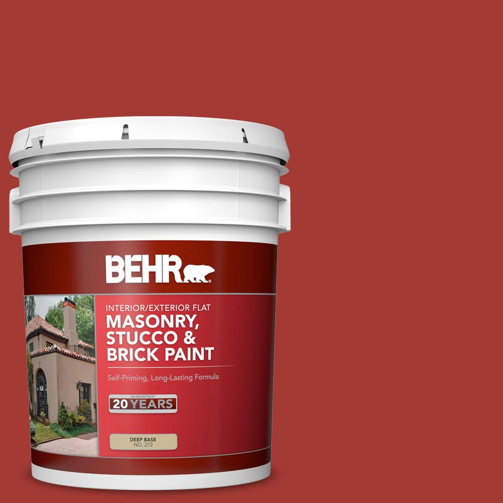 Behr 5 Gal Pfc 03 Red Baron Flat Interior Exterior
