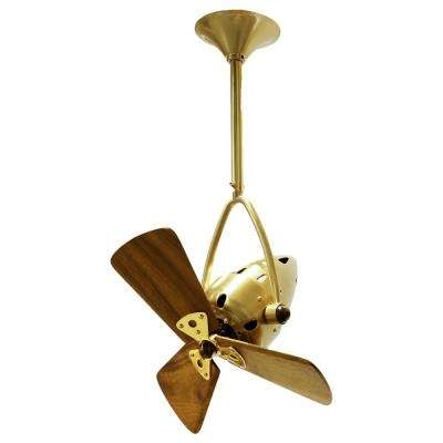 Jarold Direcional 16 in. Indoor/Outdoor Brushed Brass Ceiling Fan with Wall Control