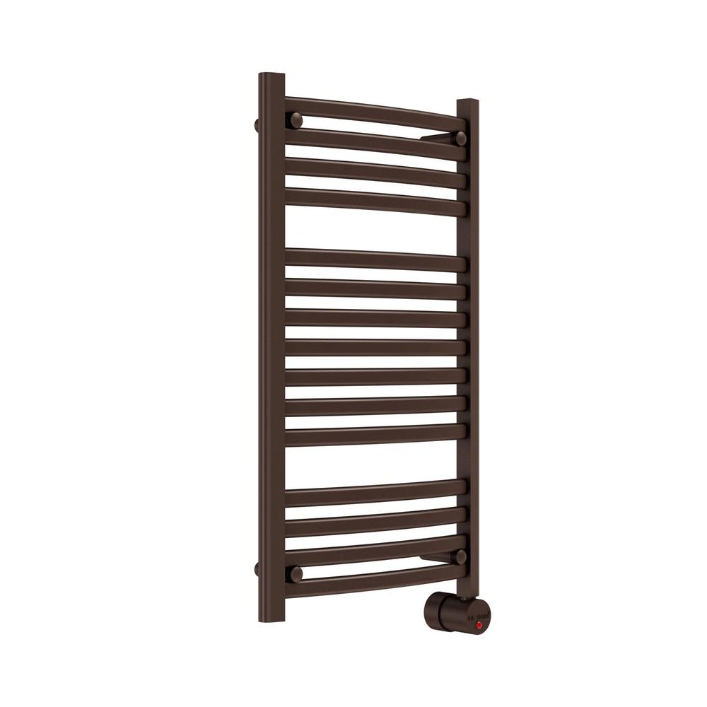 13-Bar Wall Mounted Electric Towel Warmer with Digital Timer in Oil