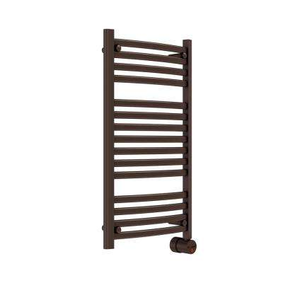 13-Bar Wall Mounted Electric Towel Warmer with Digital Timer in Oil Rubbed Bronze