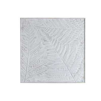 Metal Leaf Inlay Square Wall Panel