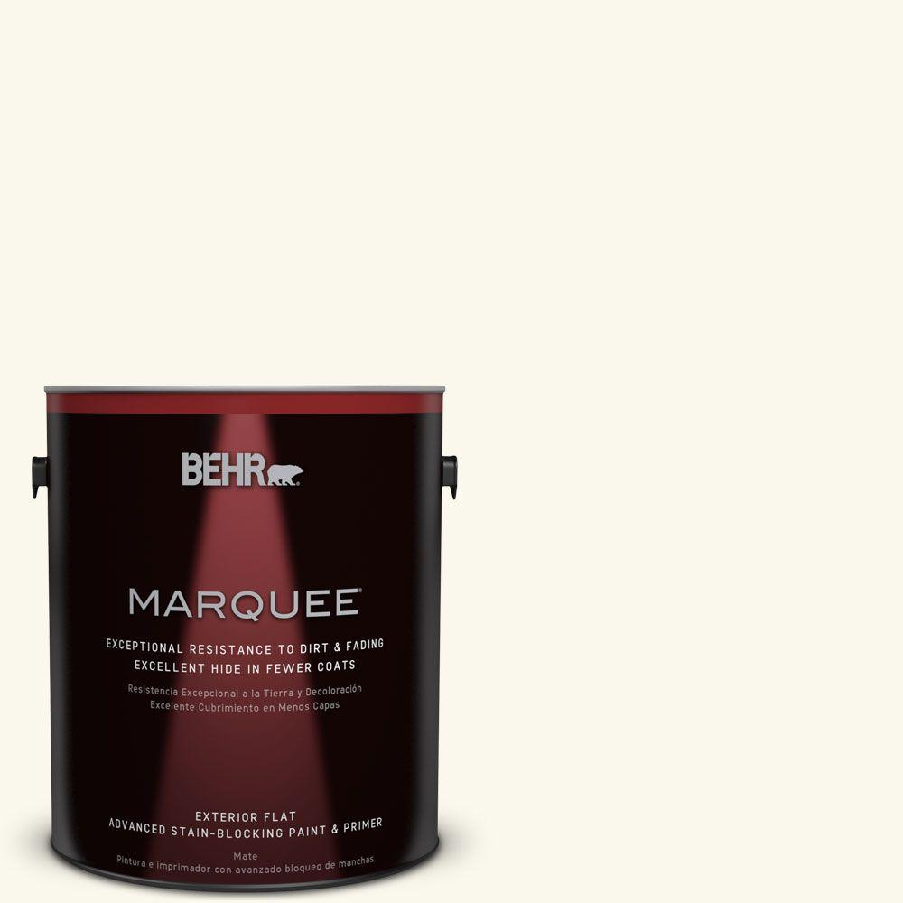 1-gal. #BXC-29 Stately White Flat Exterior Paint