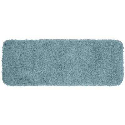 Jazz Basin Blue 22 in. x 60 in. Washable Bathroom Accent Rug
