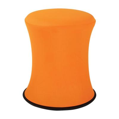 "18""-26"" Active Height Stool with White Frame and Orange Fabric"