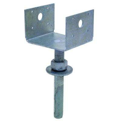 4 in. x 4 in. 12-Gauge Hot-Dip Galvanized Pier Block Elevated Post Base