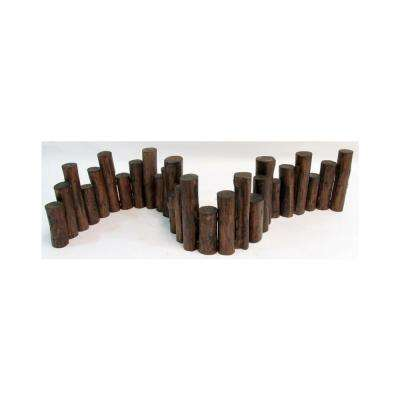 10 in. H x 60 in. L Teak Wood Uneven Top Solid Log Edging