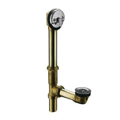 Swiftflo Brass Adjustable Trip Lever Drain in Polished Chrome