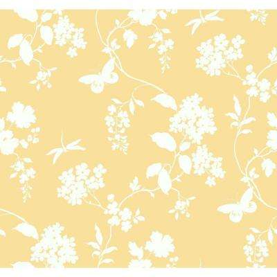 Landscapes Yellow Wallpaper Home Decor The Home Depot