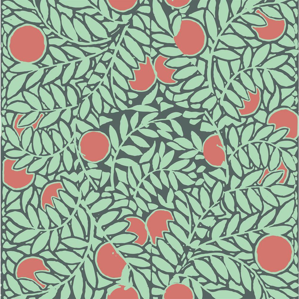 NEW Anthropologie Orange Grove Wallpaper Roll