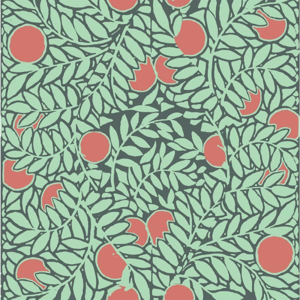 Mitchell Black Debut Collection Orange Grove in Mint/Coral Removable and Repositionable Wallpaper