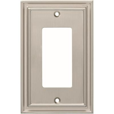 Nickel 1-Gang Decorator/Rocker Wall Plate (1-Pack)