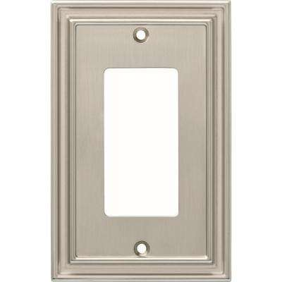 Silverton 1-Gang Decorator, Satin Nickel