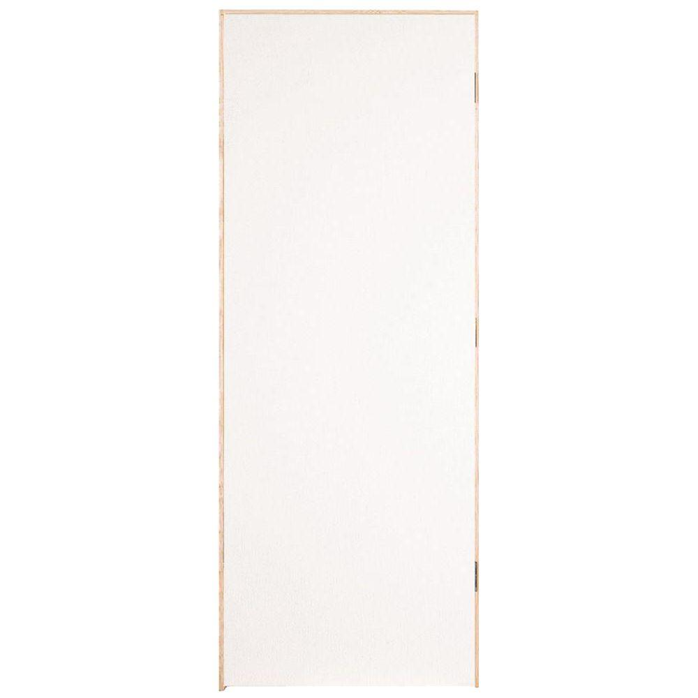 Flush Hardboard Left-Handed Hollow-Core Smooth Primed Composite Single Prehung Interior Door-07030 - The Home Depot  sc 1 st  The Home Depot & Masonite 30 in. x 80 in. Flush Hardboard Left-Handed Hollow-Core ...