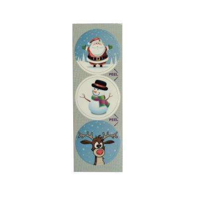 Winter Fun Decorative Bathroom Sink Stopper Laminates (Set of 3)