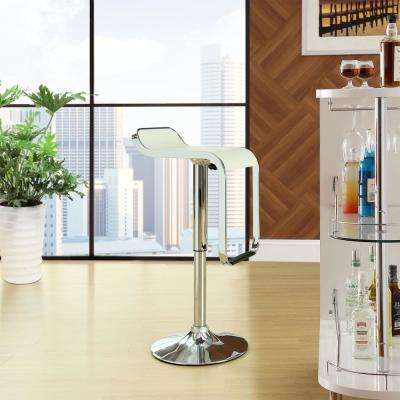 LEM 36 in. Vinyl Bar Stool in White