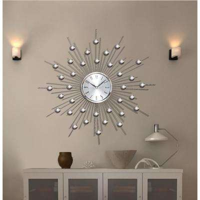 20 in. Sunburst Mirrored Wall Clock