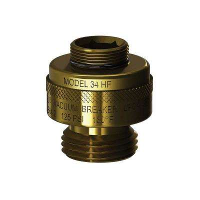 13/16 in. - 24 Special Threads x 3/4 in. Hose Thread Brass Vacuum Breaker