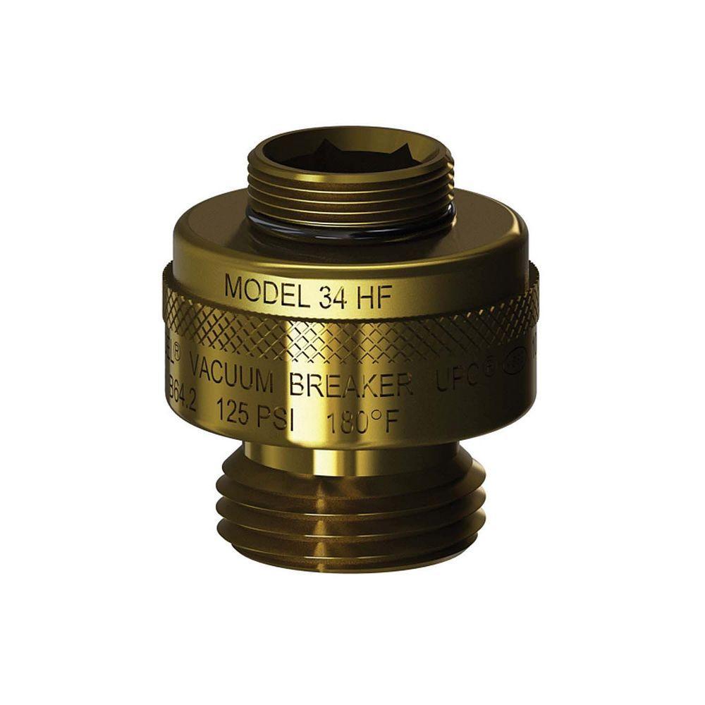 13/16 in. - 24 Special Threads x 3/4 in. Hose Thread Brass Vacuum Breaker
