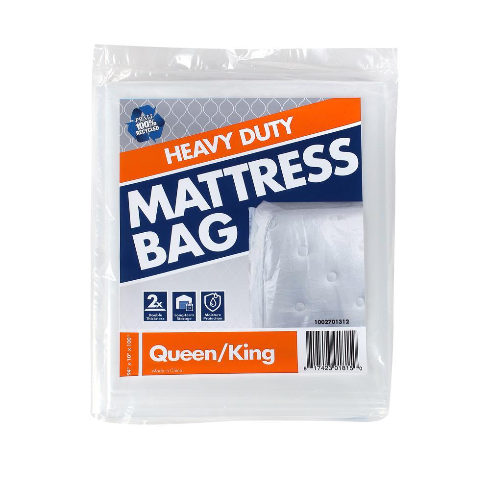 Pratt Retail Specialties 99 in. D x 77.5 in. H x 14 in. W  Heavy-Duty Queen and King Mattress Bag