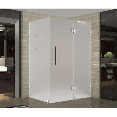 Frosted Chrome Shower Doors Showers The Home Depot