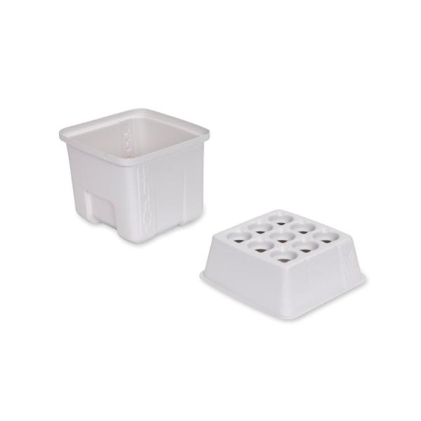 Aeroponic 9 Site Plant Cloning Lid and Reservoir