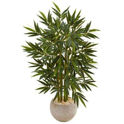 Captivating Indoor Bamboo Artificial Tree In Sand Colored Bowl