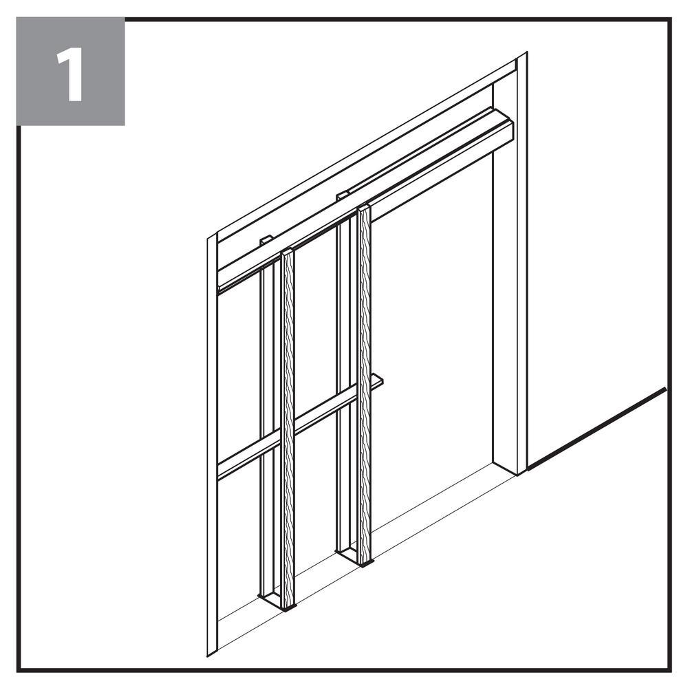 Everbilt Pocket Door Jamb Kit 12676 The Home Depot