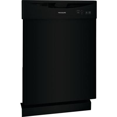 24 in. Black Front Control Built-In Tall Tub Dishwasher