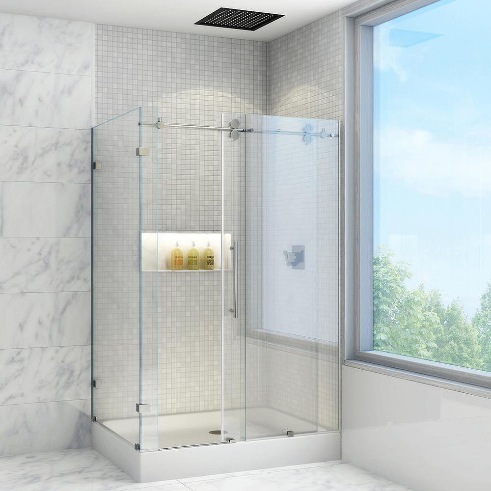 VIGO Winslow 48.13 in x 79.88 in. Frameless Bypass Shower ...