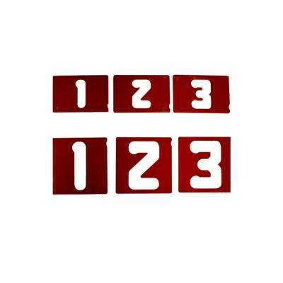 2203 Vertical Number Template Set