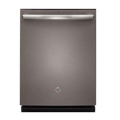 Top Control Dishwasher in Slate with Stainless Steel Tub and Steam Prewash, Fingerprint Resistant, 46 dBA