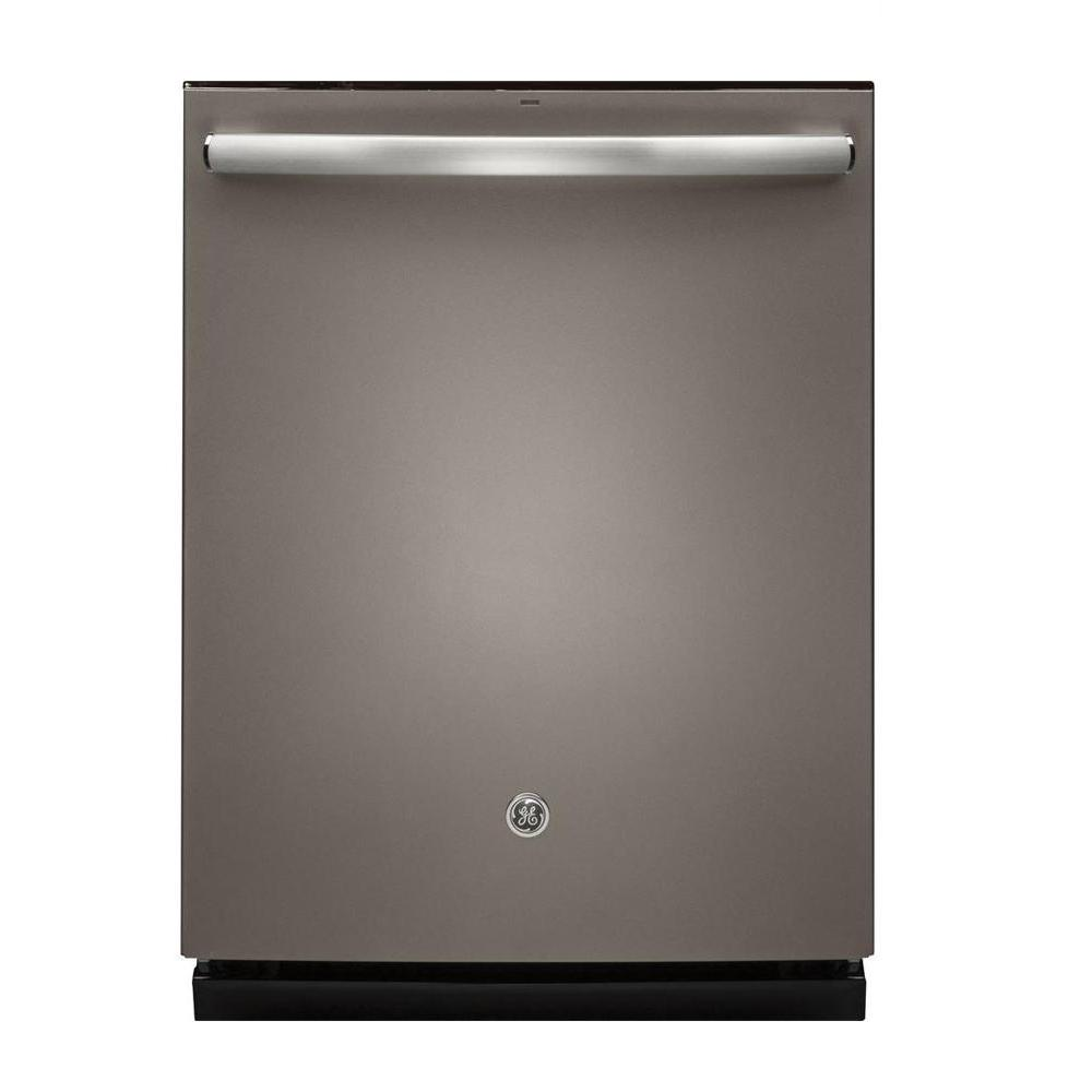 Ge Top Control Dishwasher In Slate With Stainless Steel
