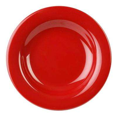 Coleur 13 oz., 9-1/4 in. Salad Bowl in Pure Red (12-Piece)