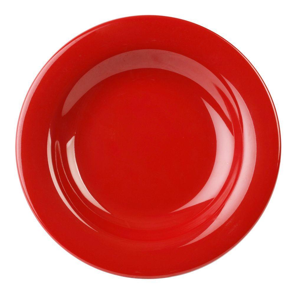 Restaurant Essentials Coleur 13 oz., 9-1/4 in. Salad Bowl in Pure Red (12-Piece)