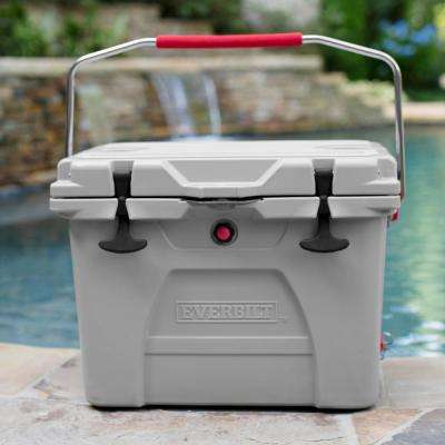 26 qt. High-Performance Cooler in Gray with Lockable Lid - Holds 30 lbs. of Ice