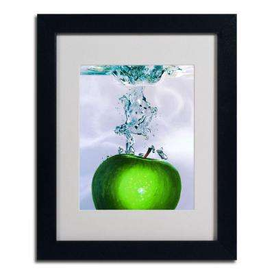 16 in. x 20 in. Apple Splash II Black Framed Matted Art