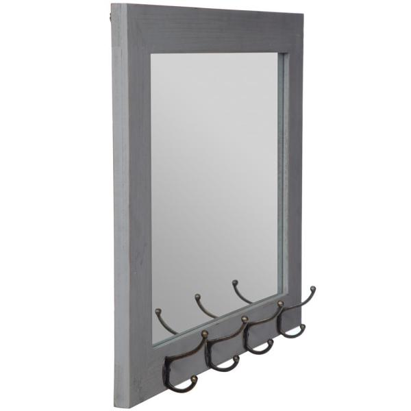 Pinnacle Medium Rectangle Gray Mirror 22 In H X 26 In W 18fp1415e The Home Depot