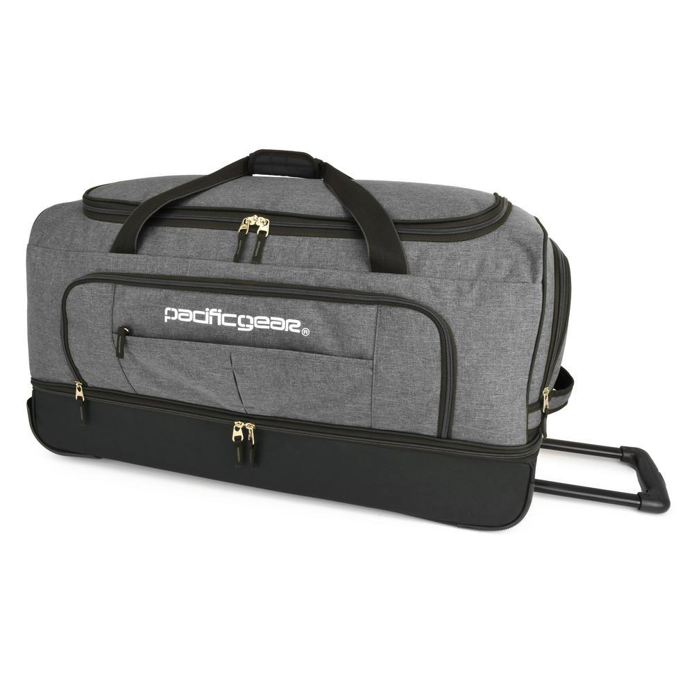 Keystone 30 in. Drop-Bottom Rolling Grey Duffel Bag