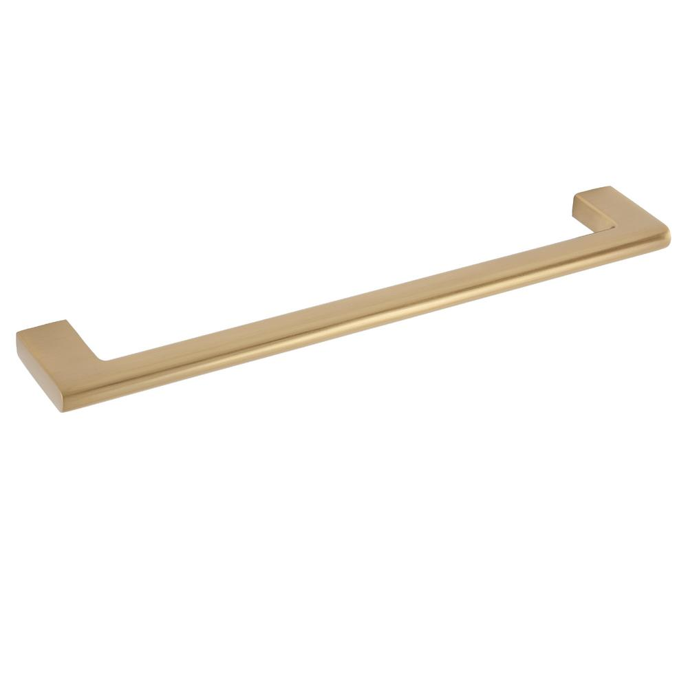 Sumner Street Home Hardware Vail 8 in. Satin Brass Drawer Pull
