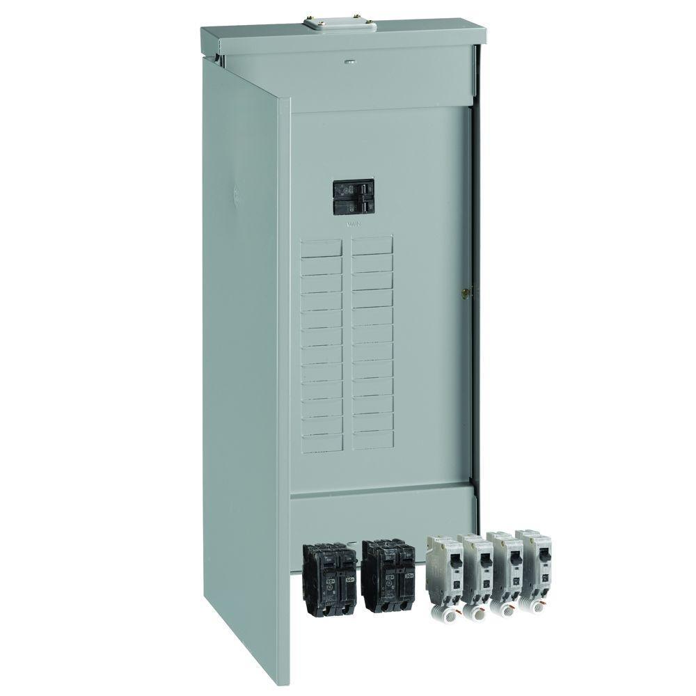 PowerMark Gold 125 Amp 24-Space 30-Circuit Outdoor Main Breaker Value Kit Includes Select Circuit Breakers
