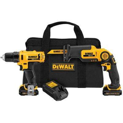 12-Volt MAX Lithium-Ion Cordless Drill/Driver & Reciprocating Saw Combo Kit (2-Tool) w/ (2) Batteries 1.5Ah & Charger