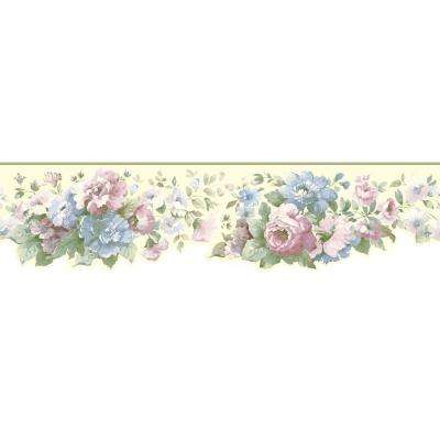 Inspired By Color Document Floral Wallpaper Border