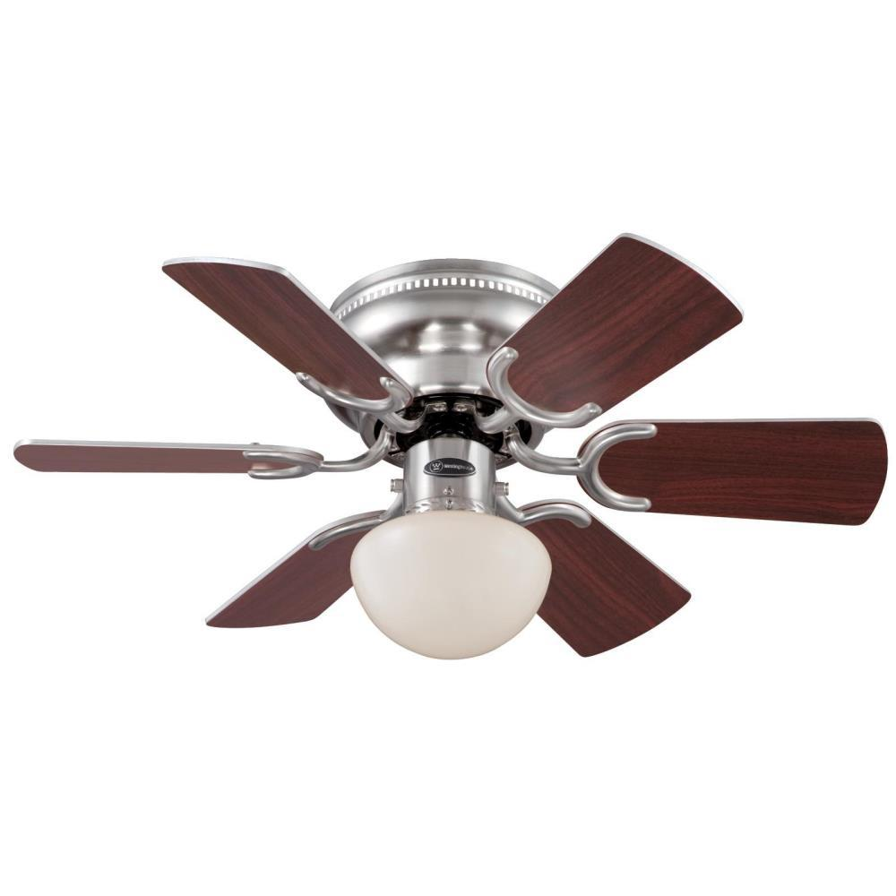 Westinghouse petite 30 in brushed nickel ceiling fan 7213300 the home depot - Westinghouse and living ...