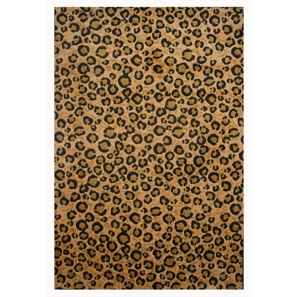 LA Rug Supreme Leopard Brown and Black 7 ft. 10 in. x 11 ft. 3 in. Area Rug