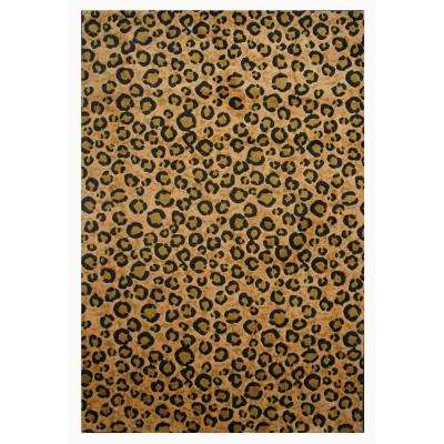 Supreme Leopard Brown and Black 7 ft. 10 in. x 11 ft. 3 in. Area Rug