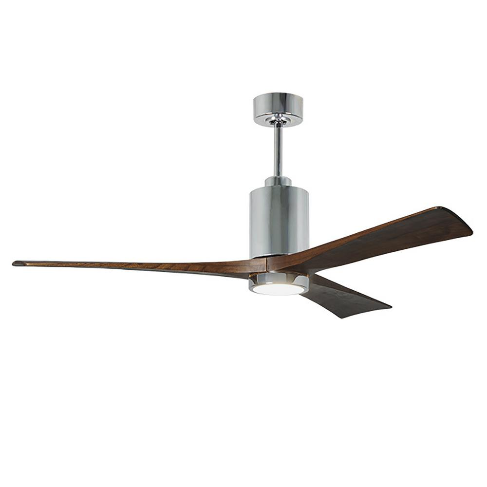 Patricia 60 in. LED Indoor/Outdoor Damp Polished Chrome Ceiling Fan with