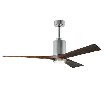 Patricia 60 in. LED Indoor/Outdoor Damp Polished Chrome Ceiling Fan with Remote Control, Wall Control