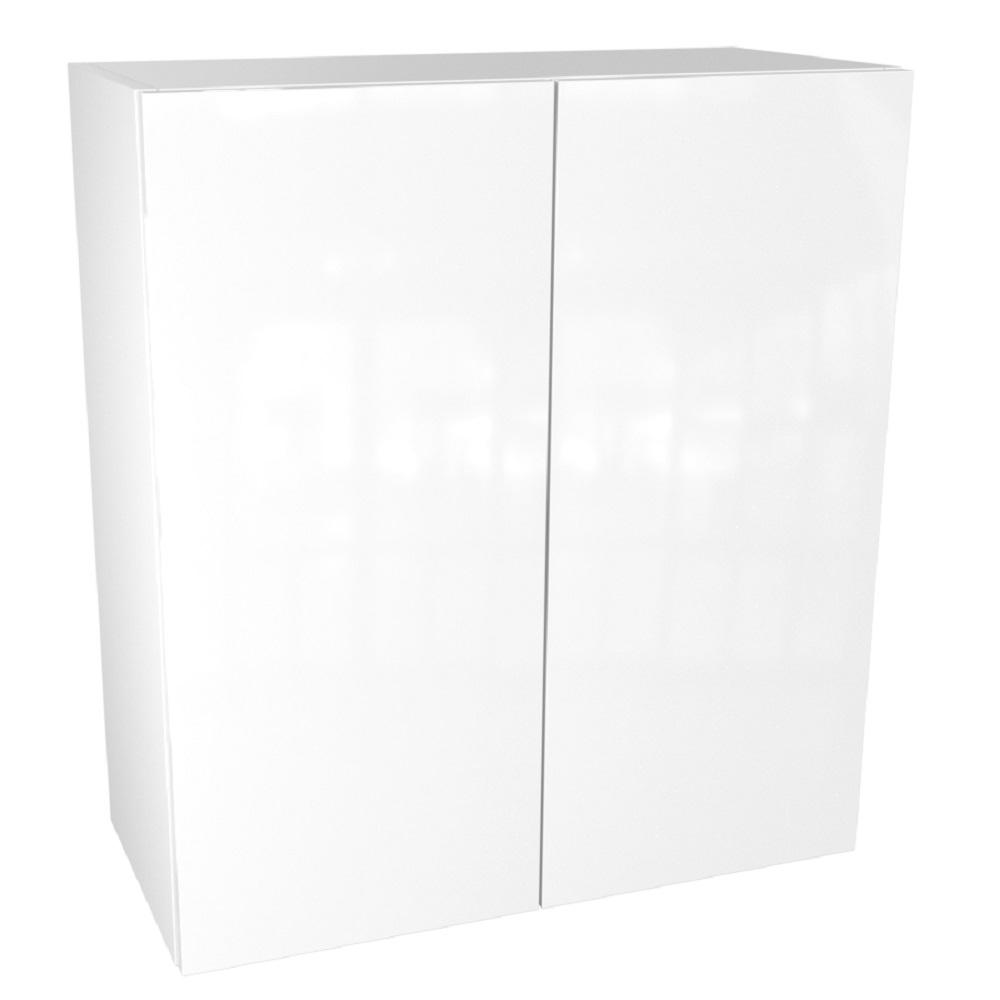Cambridge Ready to Assemble 30 in. x 36 in. x 12 in. Wall Cabinet in Glossy White, White Gloss -  SA-WU3036-WG