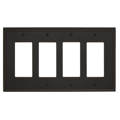 Mulholland 4-Rocker Wall Plate, Black Bronze