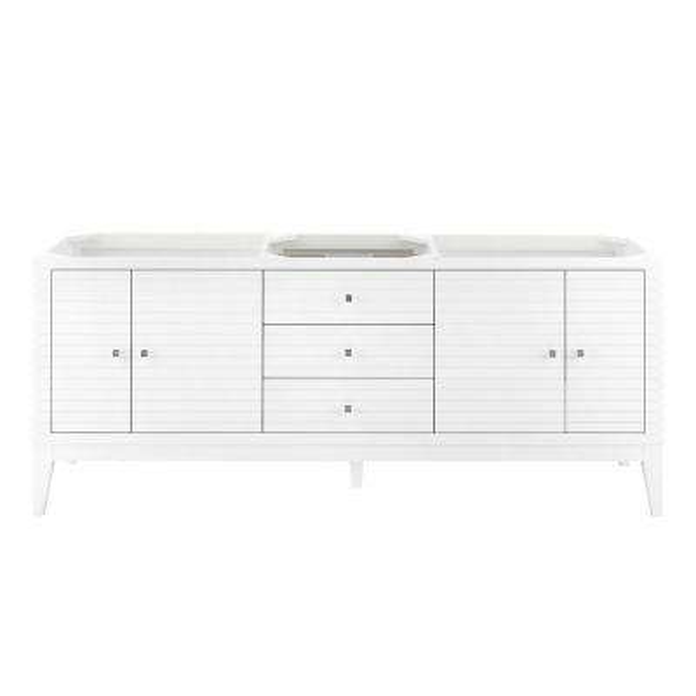 Linear 72.50 in. W x 18.75 in. D Single Bath Vanity Cabinet Only in Glossy White